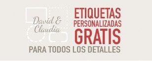 Etiquetas personalizadas gratis para detalles de boda