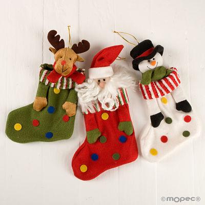 Calcet n topos navidad navidad - Calcetin de navidad ...
