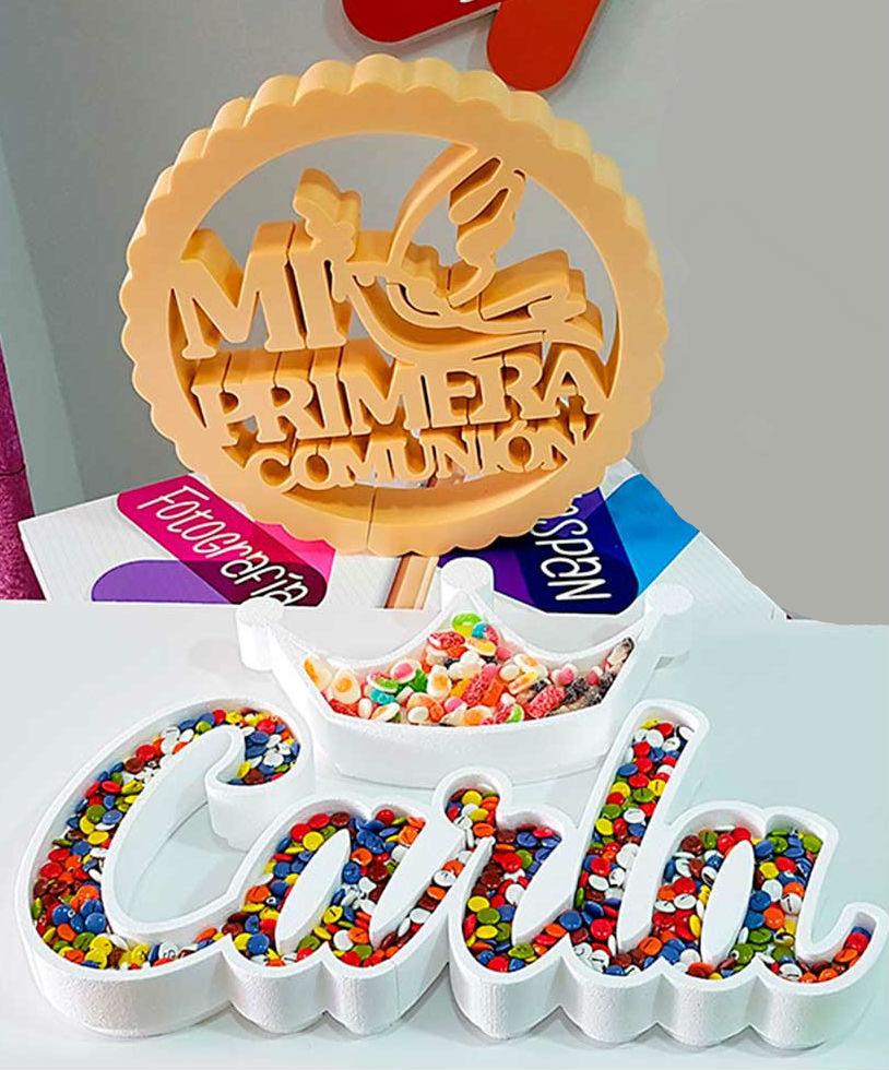 Corcho decorativo para candybar personalizado con corona - Corcho decorativo ...