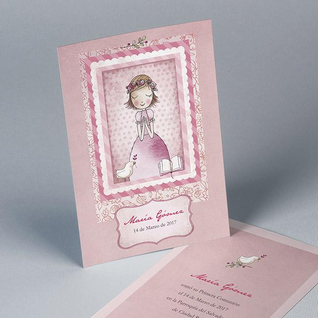 Estampa comuni n 01517001570 impresi n incluida detalles - Invitaciones comunion busquets ...