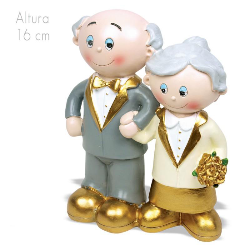 figura pastel bodas de oro