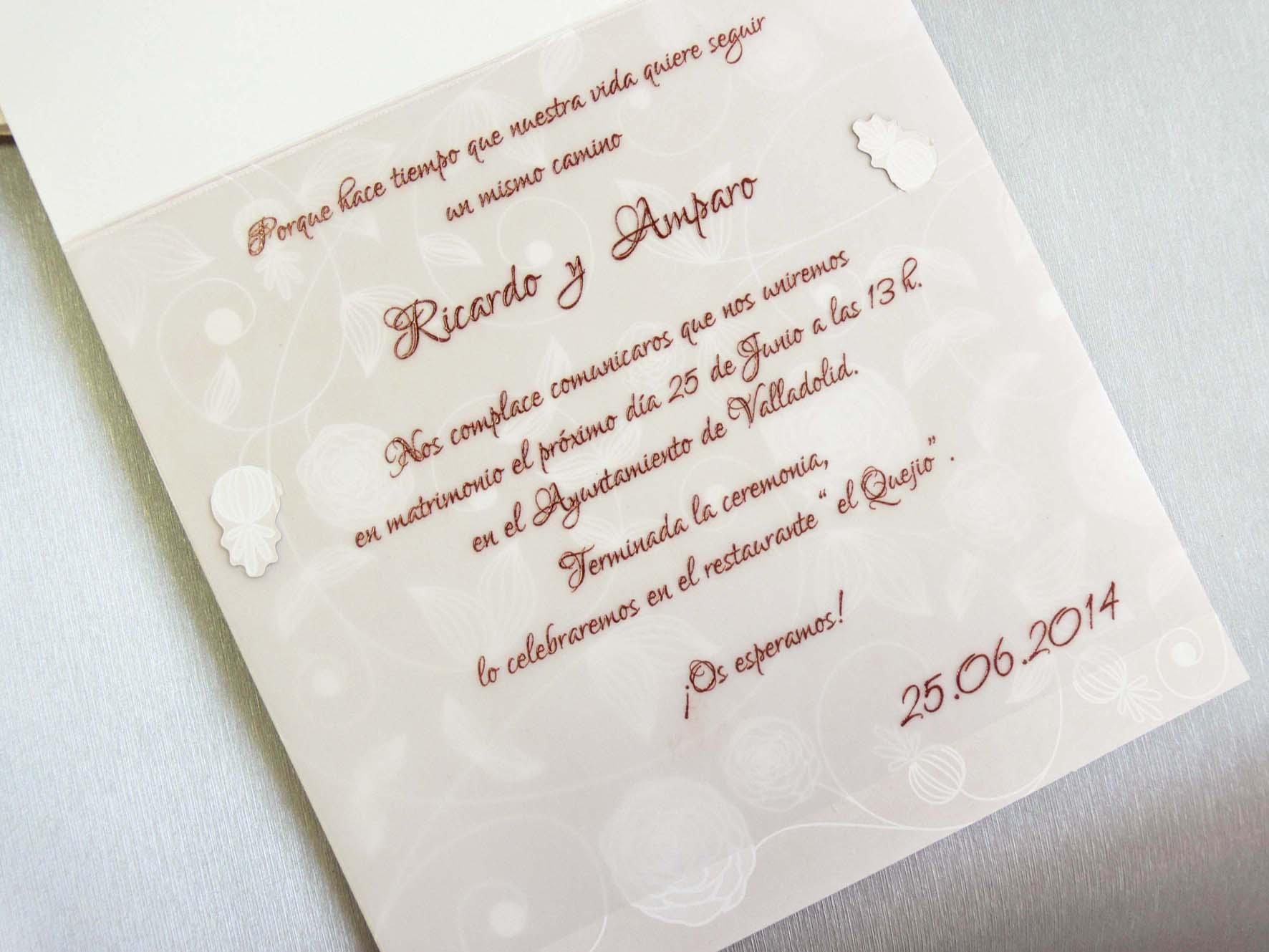 Invitaci n de boda 32801 - Como preparar una boda ...