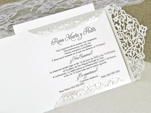 725b0543b Invitación de boda corte elegante   INVITACIONES DE BODA   Colección ...