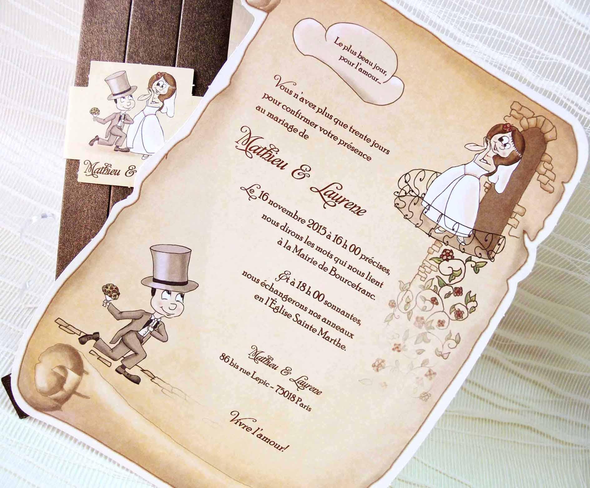 Invitaciones Para Matrimonio Rustico : Invitacion de boda pergamino romeo y julieta
