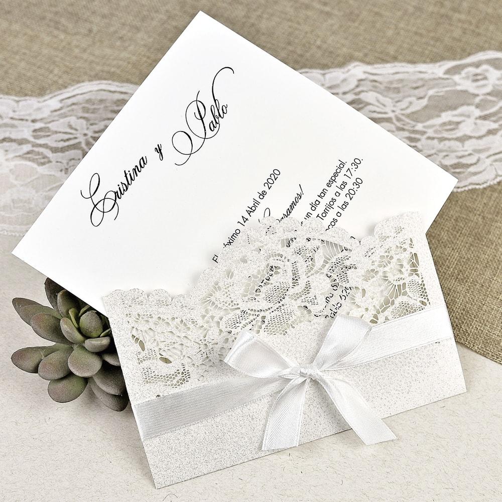 Invitación de boda rosas plateadas > INVITACIONES DE BODA