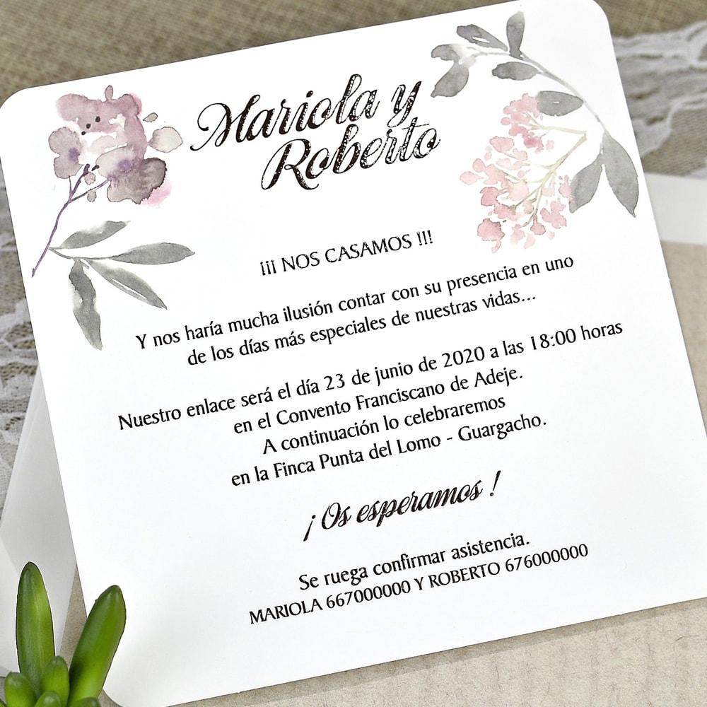 invitacin de boda silueta mariposas