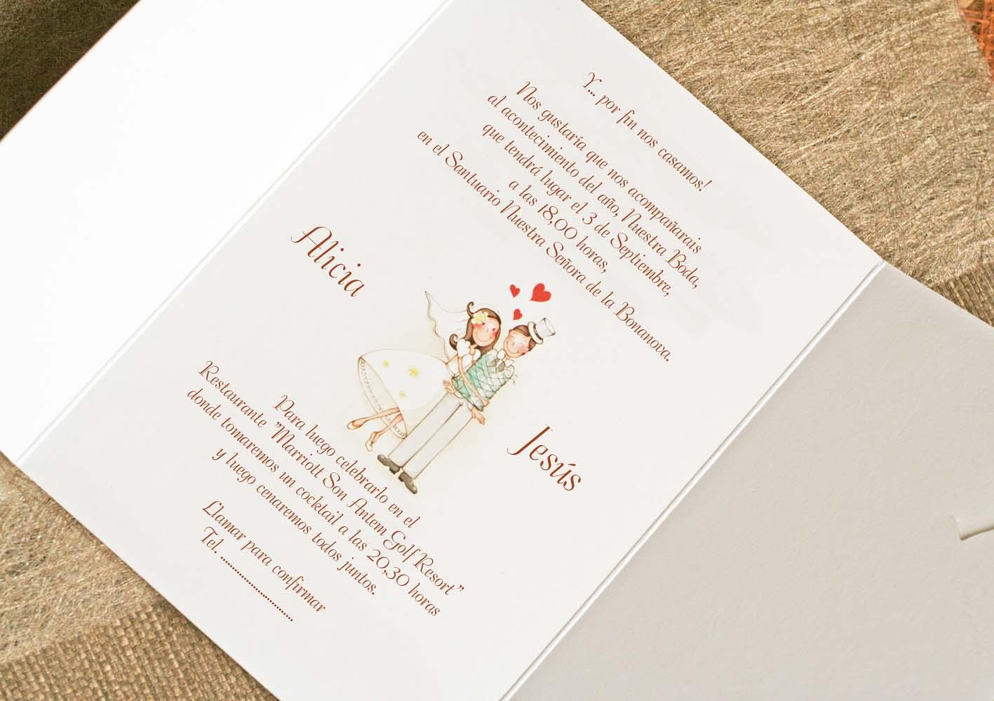 Invitaci n de boda te cac - Modelos de tarjetas de boda ...