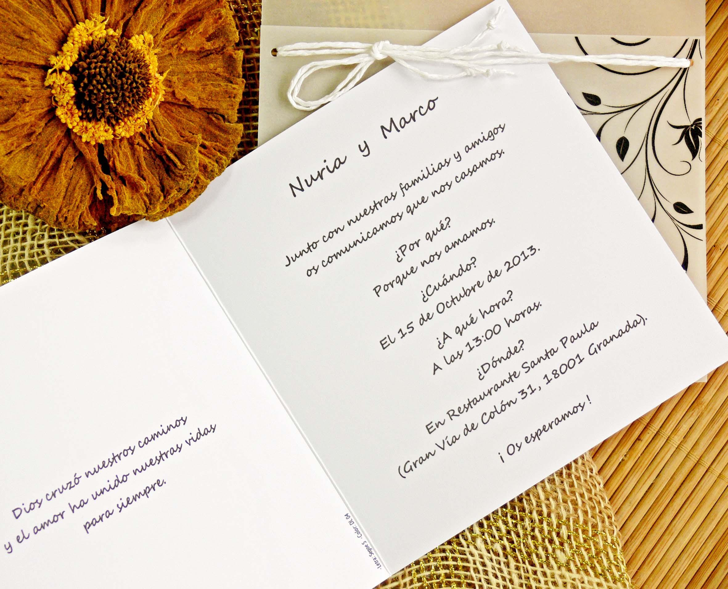invitacin de boda victoria