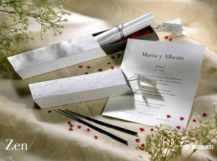 Partecipazioni Matrimonio Zen.Invitacion De Boda Zen