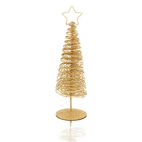 Rbol dorado metal navidad - Arboles de navidad dorados ...
