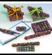 Agenda y boli lápices de colores
