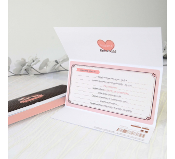 Invitación de Boda Sweet Love