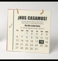Invitación Boda Calendario