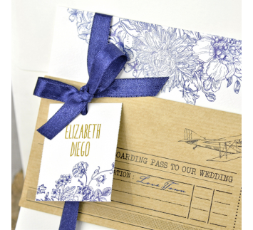 Invitación de boda Airplane