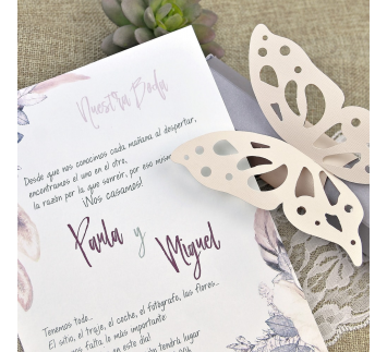 Invitación de boda grand papillon