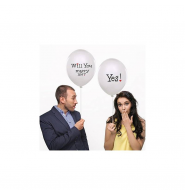 "PACK DE 6 GLOBOS ""WILL YOU MARRY ME?"""
