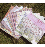 SET 24 PAPELES SCRAPBOOKING RETRO