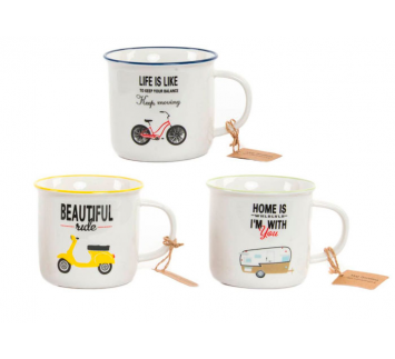 "Taza mug frases ""on wheels"""